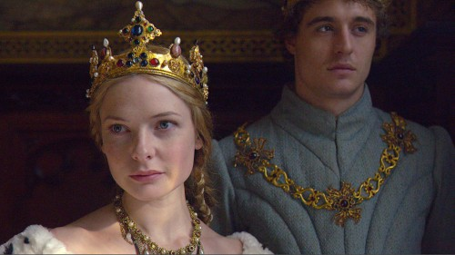 Rebecca Ferguson as Elizabeth, with Max Irons as Edward
